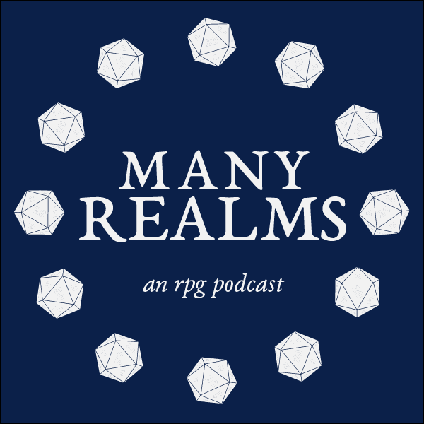 a circle of white 20-sided polygons on a blue background. the text in the centre reads, Many Realms, an RPG podcast./></a></p> <p> Many Realms is an actual-play RPG podcast. I am an actor, audio editor, producer and social media manager. Check it out!</p>    <p></p> 			</div><!-- .entry-content -->  	<footer class=